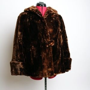 Vintage The Hudson Bay Fur Jacket Size M
